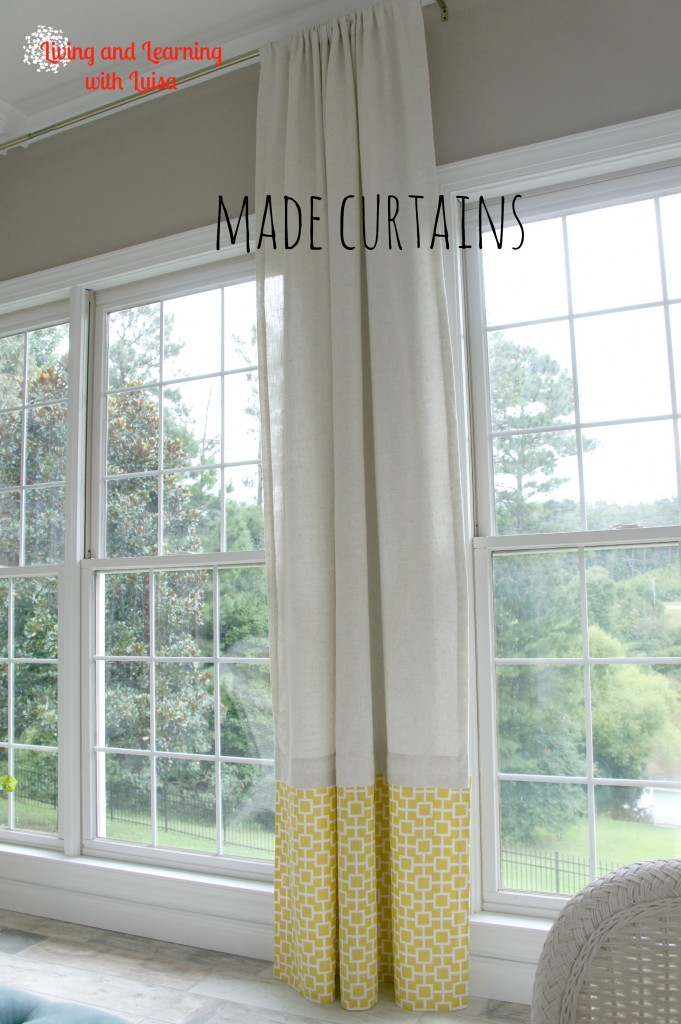 No sew curtains to add length