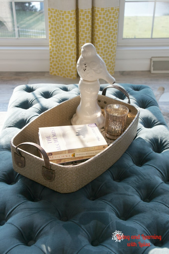 teal ottoman from World Market