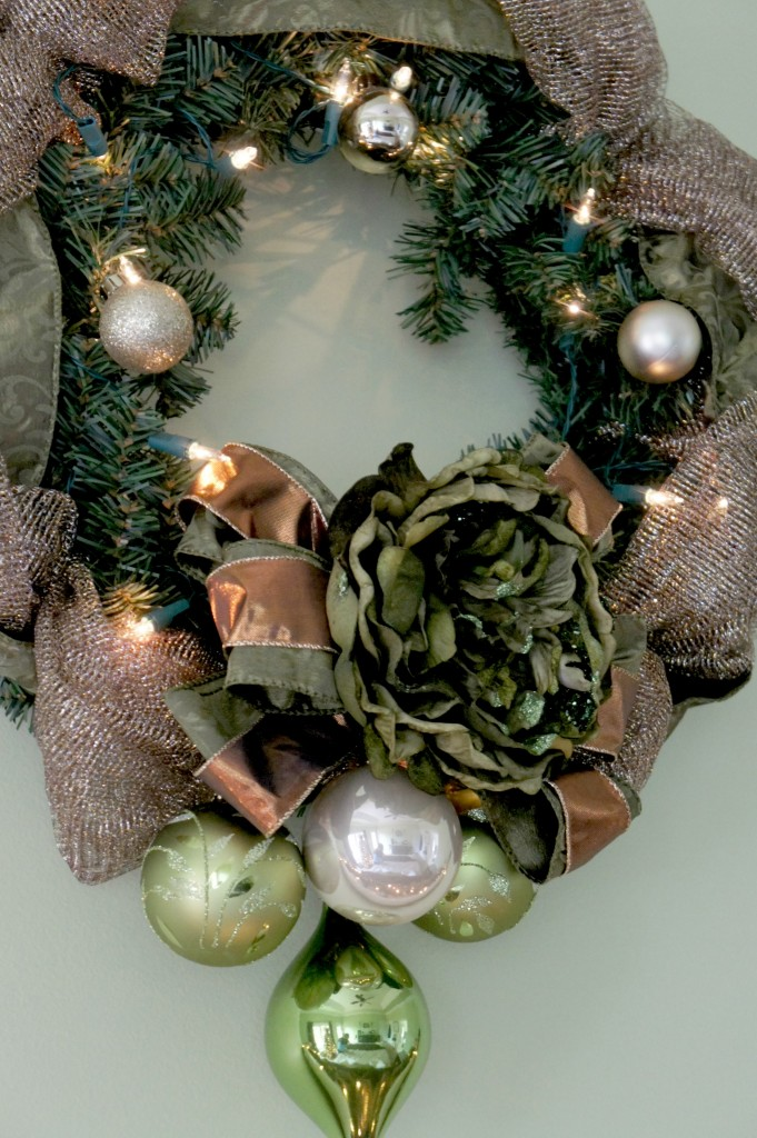 bedroom christmas wreath