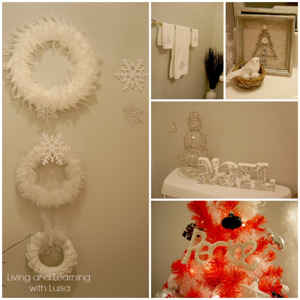 christmas bathroom Collage