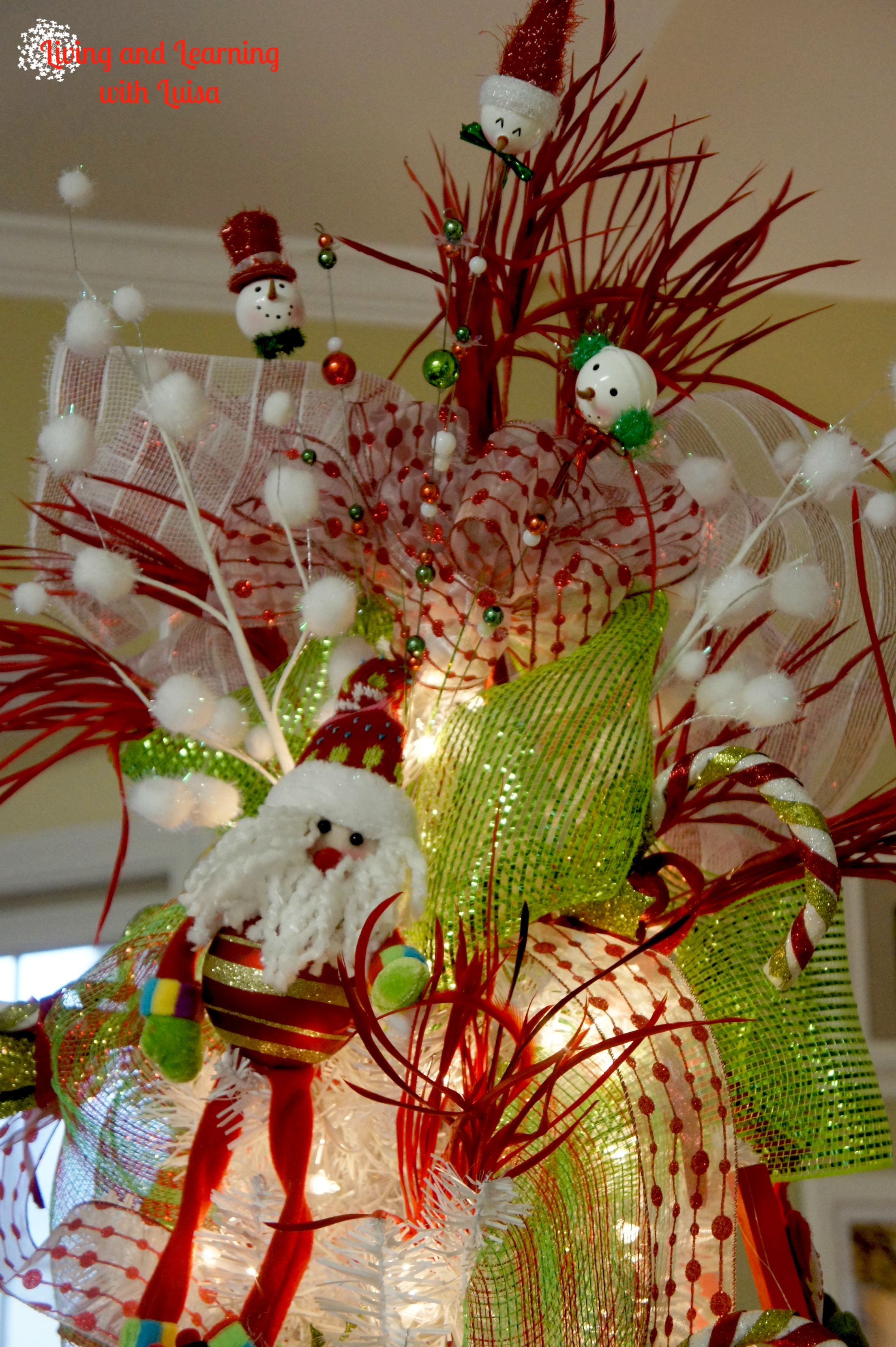 whimsical christmas tree - Whimsical Christmas Tree Toppers