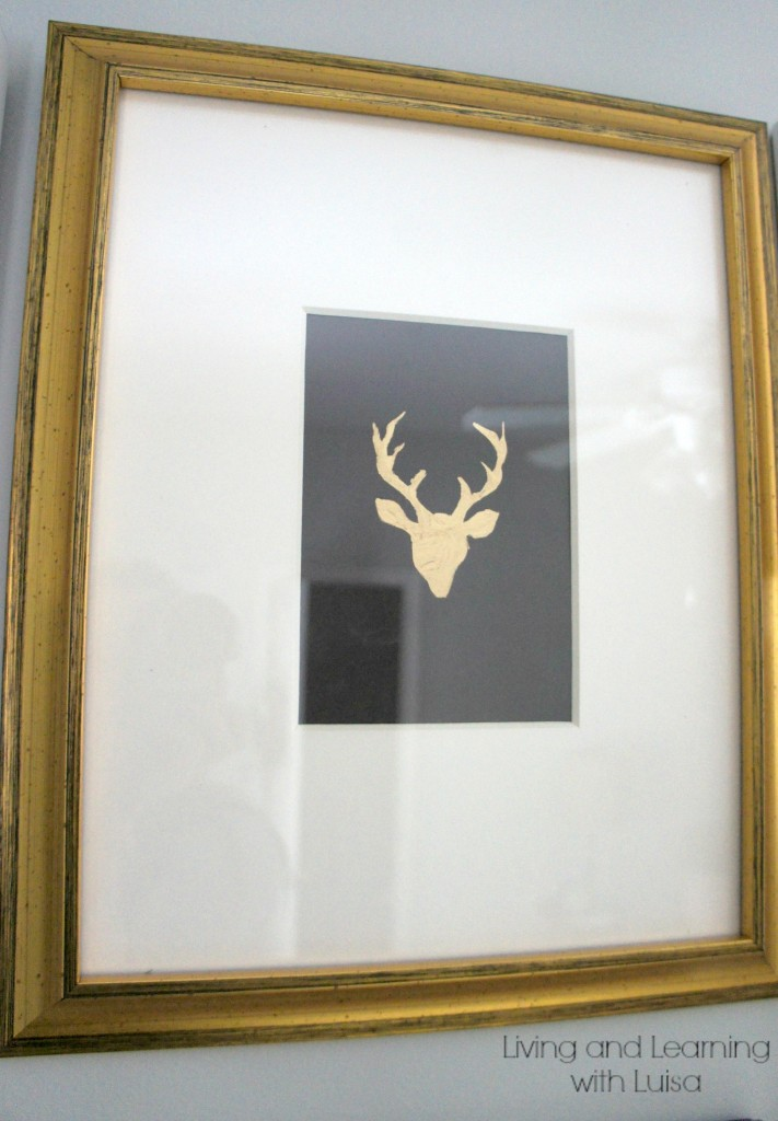 deer head print diy