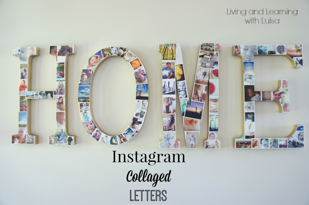 Instagram Collaged Letters