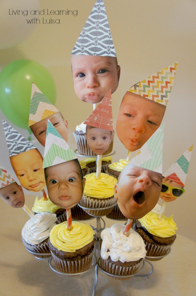 Funny Face Cupcake Topper